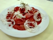 Tuna Carpaccio with pommegranate